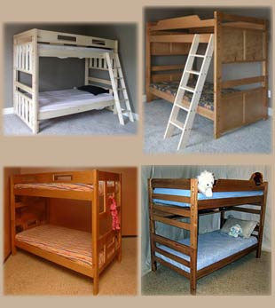 Bunk Beds Regular Extra Long Solid Aspen Maple Alder